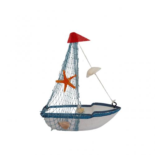 Barca decorativa cu panze Sailor lemn