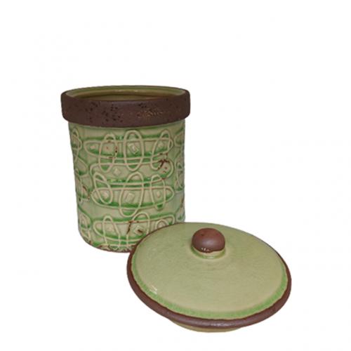Borcan ceramica Antique verde