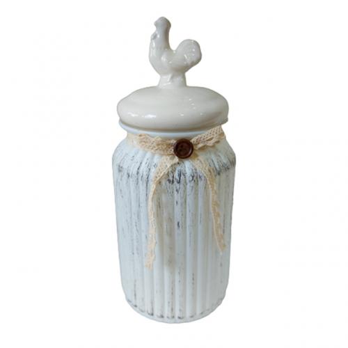 Borcan depozitare Antique Cocq sticla