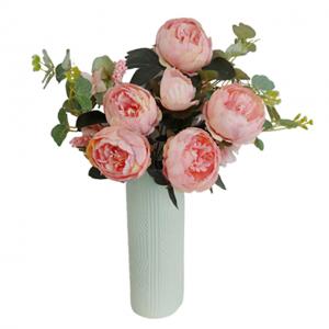 Buchet bujori artificiali roz Darcy 45cm