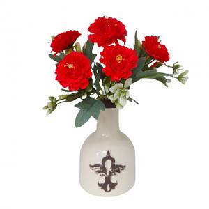 Buchet flori artificiale rosii Charlene 25cm