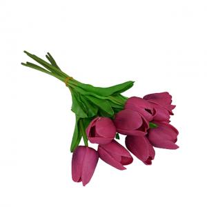 Buchet lalele artificiale mov Magenta Tulipe