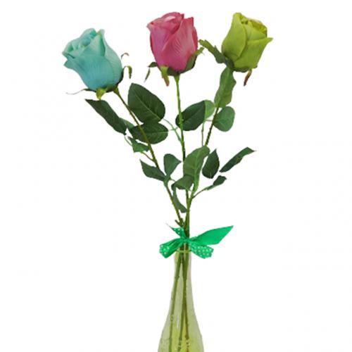 Buchet trandafiri artificiali Claude multicolori