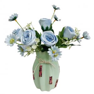 Buchet trandafiri artificiali bleu Barbara 30cm