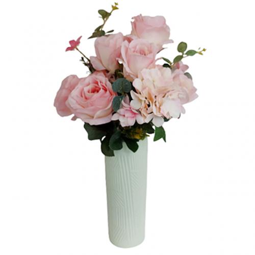 Buchet trandafiri artificiali roz Sand Danielle