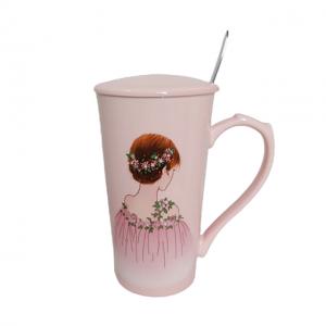 Cana ceramica Beauty roz