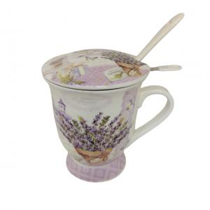 Cana portelan Carlota lavanda Set pentru ceai