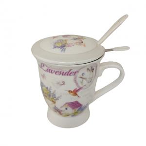 Cana portelan Renee lavanda Set pentru ceai