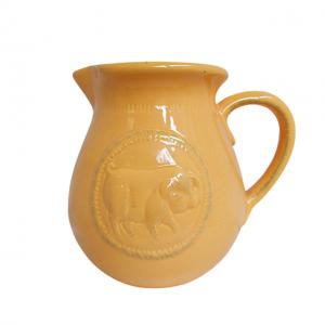 Carafa galbena ceramica Piggy vaza 15cm
