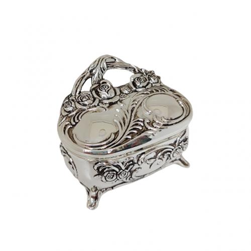 Cutie bijuterii Silver Abigail argintata 6x4cm