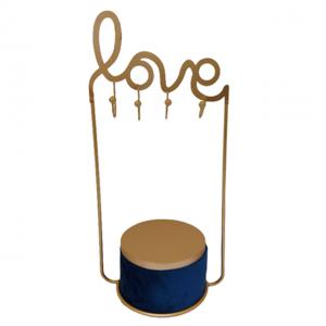 Cutie cu suport bijuterii Velvet Love albastru