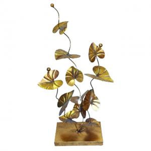 Decoratiune metalica Victoria cu frunze aurii