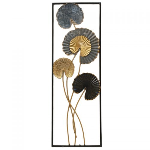 Decoratiune metalica Water Lily tablou 31x90cm