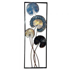 Decoratiune metalica de perete Water Lily 31x90cm
