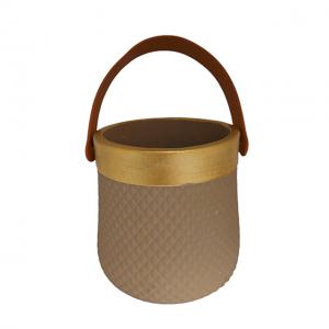 Ghiveci ceramica Annelise maro-auriu 14cm