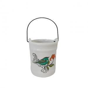 Ghiveci ceramica Birdie suport candela 8cm