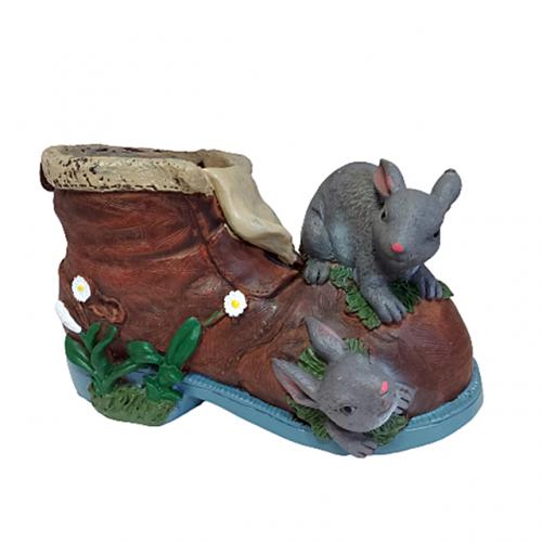 Ghiveci ceramica Bunny Family 20x12cm