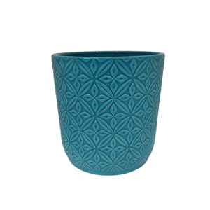 Ghiveci ceramica Ocean albastru 13x13cm
