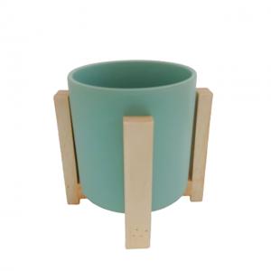 Ghiveci ceramica rotund Berenice verde