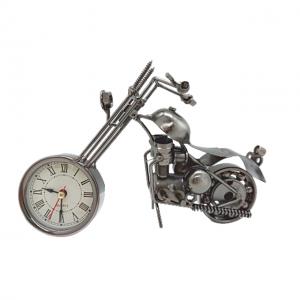 Motocicleta metal cu ceas Rider 20x7x14cm