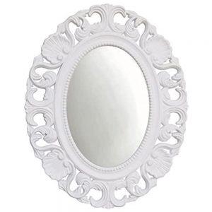 Oglinda ovala Charlotte 42x53cm alba