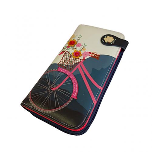Portofel bleumarin Navy Bicycle 19cm