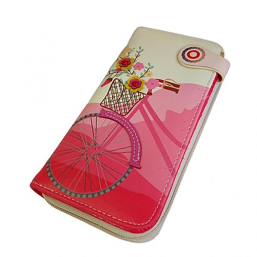 Portofel roz Azalea Bicycle 19cm