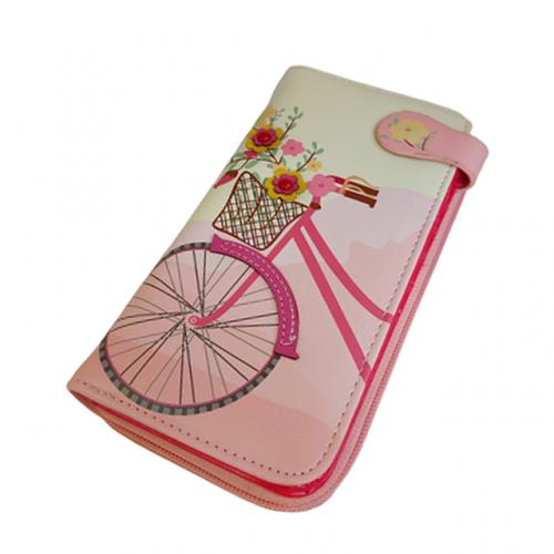 Portofel roz Peach Bicycle 19cm