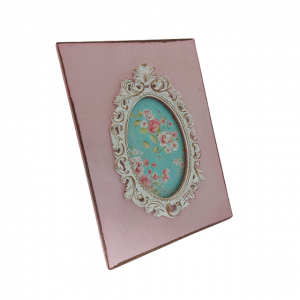 Rama foto 10x15cm Berenice roz lemn