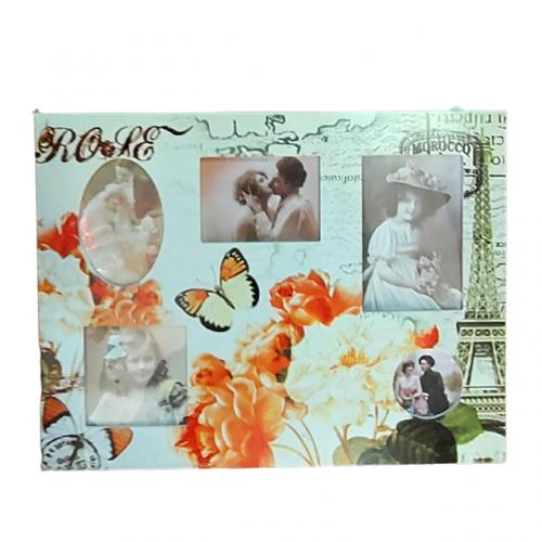 Rama foto multipla Orange Roses 43x33cm retro