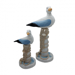 Set 2 pescarusi decor Seagull lemn