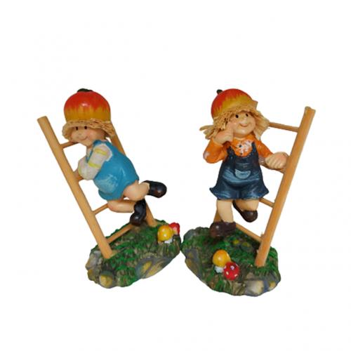 Set 2 figurine Sylvie & Yogi 7x12cm rasina