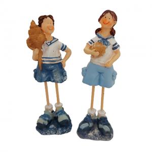 Set 2 figurine marinari in picioare Shell 14cm