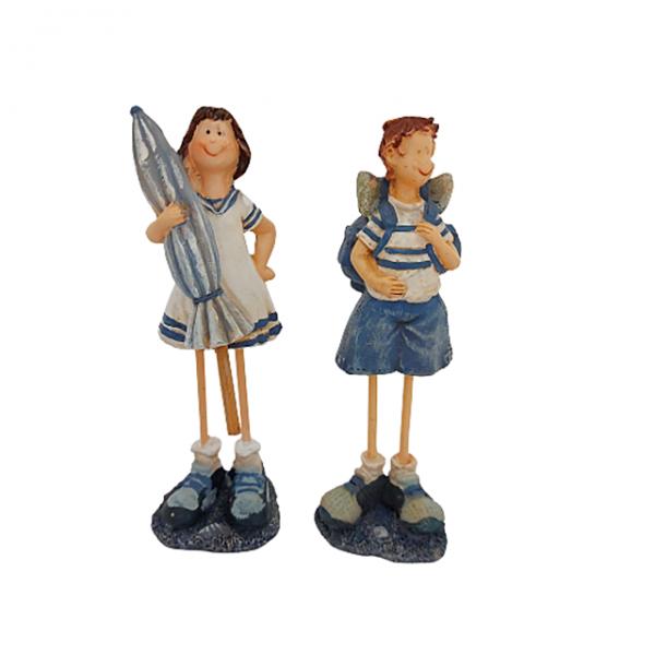 Set 2 figurine marinari in picioare Tourists 14cm