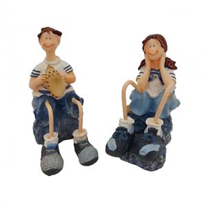 Set 2 figurine marinari sezand Shell 11cm