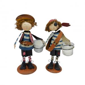 Set 2 figurine pirat Sailor Candle metal