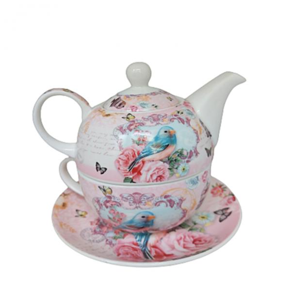 Set ceai Heather 3 piese Portelan