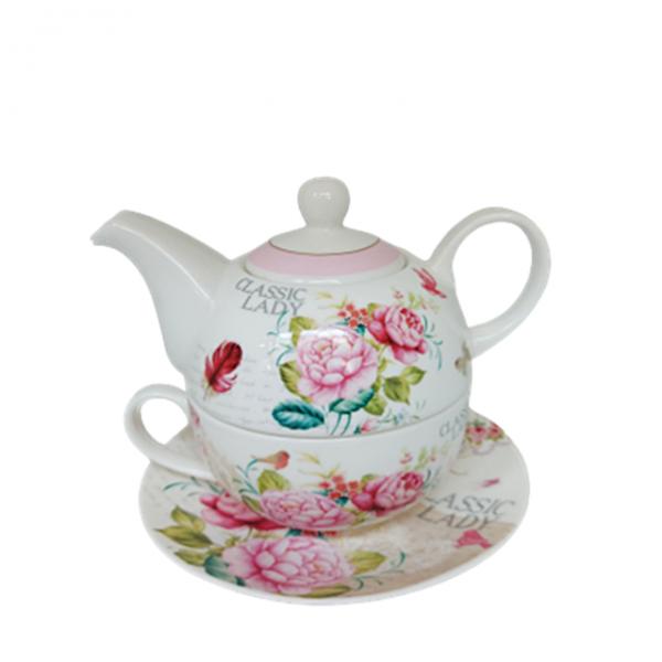 Set ceai Lady Fran 3 piese Portelan