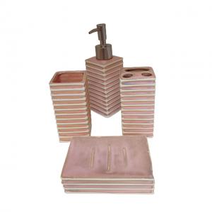 Set de baie Antique roz ceramica