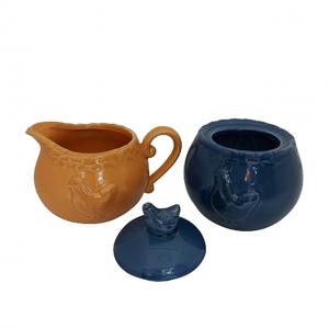 Set zaharnita & latiera Coq ceramica