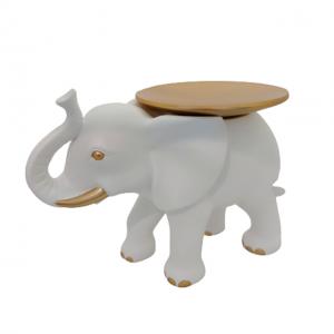 Statueta elefant alb Dumbo cu platou fructiera