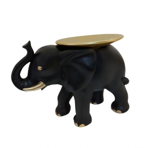 Statueta elefant negru Dumbo cu platou fructiera
