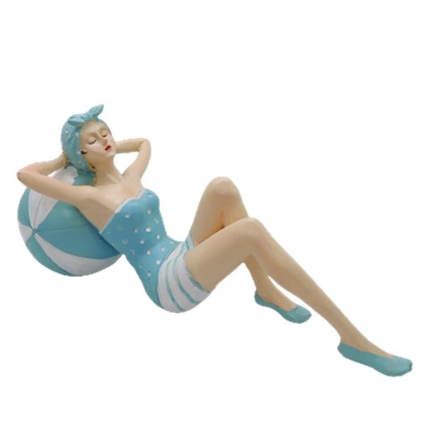 Statueta fata la plaja Susan 30x8x13cm