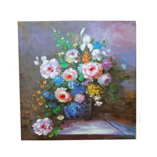 Tablou cu bujori Flower Vase 60x60cm