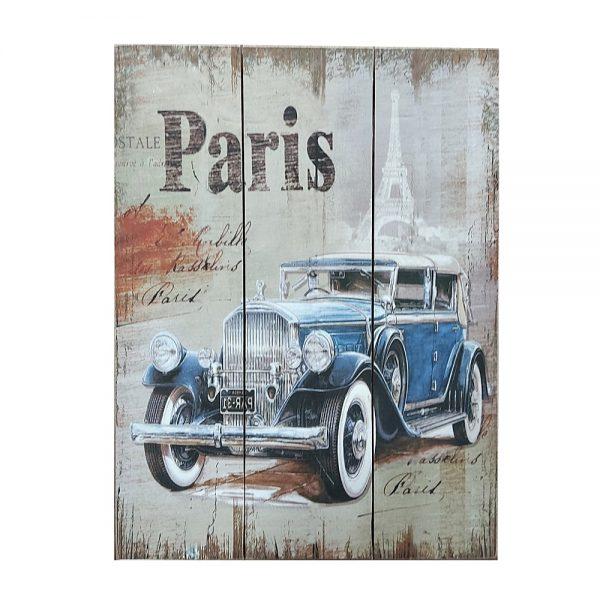 Tablou lemn Paris vintage 30x40cm