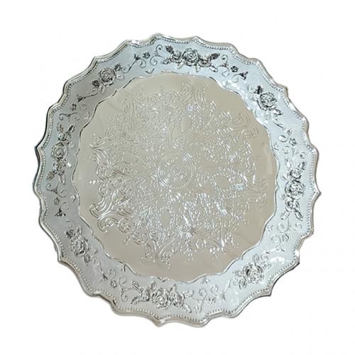 Tava metal Silver Abigail argintata, 34cm