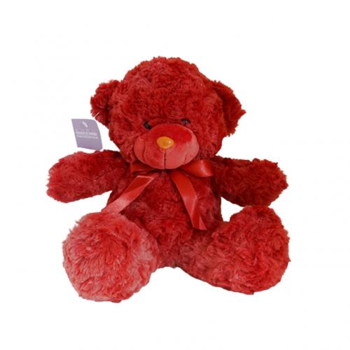 Ursulet de plus rosu Fuzzy Bear 25cm