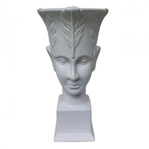 Vaza alba cap de femeie Beauty 31cm