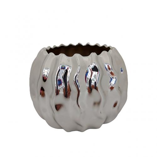 Vaza ceramica Abigail argintiu 11cm