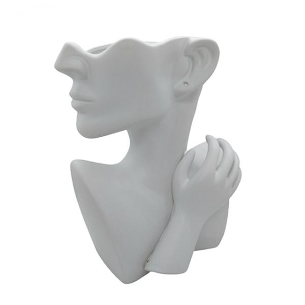 Vaza ceramica Adele statueta alba 24cm
